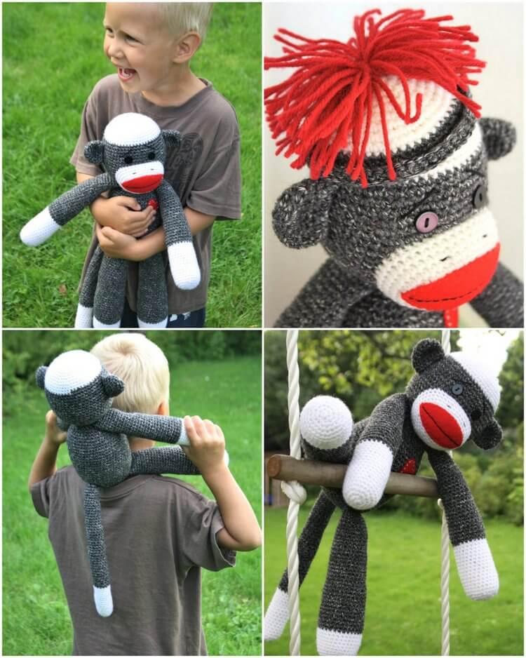 Ravelry: Sock Monkey Amigurumi pattern by Joanne Loh | 938x750